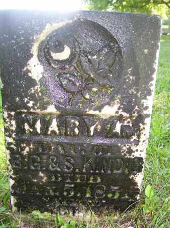 KINDIG, MARY A - Tazewell County, Illinois | MARY A KINDIG - Illinois Gravestone Photos
