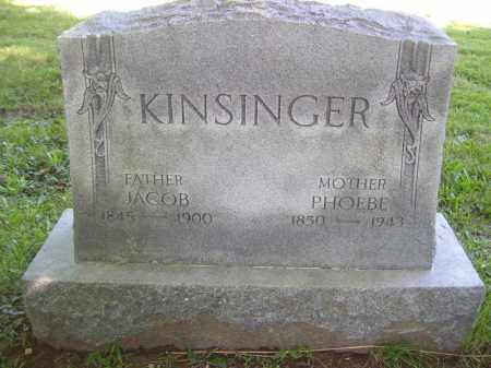 KINSINGER, JACOB - Tazewell County, Illinois | JACOB KINSINGER - Illinois Gravestone Photos