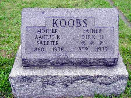 SWEETER KOOBS, AAGTJE K - Tazewell County, Illinois | AAGTJE K SWEETER KOOBS - Illinois Gravestone Photos
