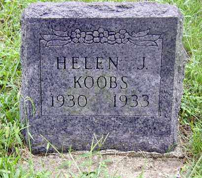 KOOBS, HELEN J - Tazewell County, Illinois | HELEN J KOOBS - Illinois Gravestone Photos