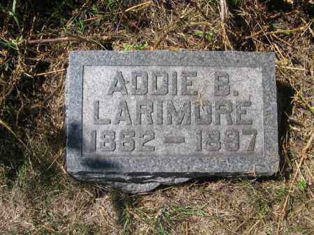 LARIMORE, ADDIE B - Tazewell County, Illinois   ADDIE B LARIMORE - Illinois Gravestone Photos
