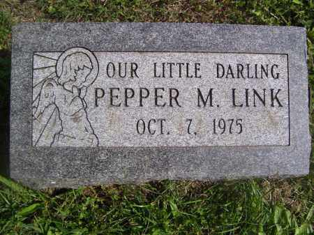 LINK, PEPPER M - Tazewell County, Illinois | PEPPER M LINK - Illinois Gravestone Photos