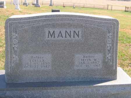 MANN, IRVIN W - Tazewell County, Illinois | IRVIN W MANN - Illinois Gravestone Photos