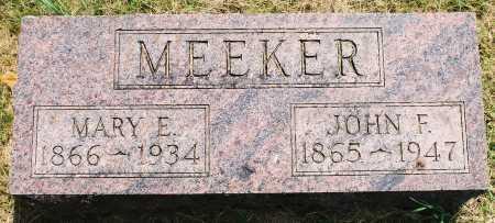 SUNDERLAND MEEKER, MARY ELIZABETH - Tazewell County, Illinois | MARY ELIZABETH SUNDERLAND MEEKER - Illinois Gravestone Photos
