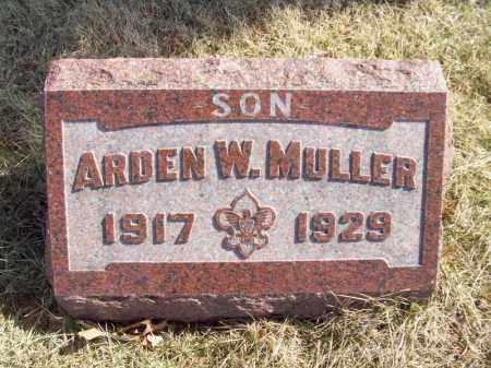 MULLER, ARDEN W - Tazewell County, Illinois | ARDEN W MULLER - Illinois Gravestone Photos