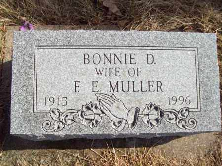 MULLER, BONNIE D - Tazewell County, Illinois | BONNIE D MULLER - Illinois Gravestone Photos