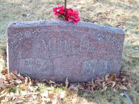 MULLER, CHARLES W - Tazewell County, Illinois | CHARLES W MULLER - Illinois Gravestone Photos