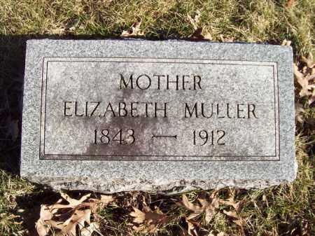 MULLER, ELIZABETH - Tazewell County, Illinois   ELIZABETH MULLER - Illinois Gravestone Photos