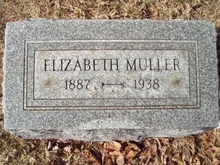 MULLER, ELIZABETH - Tazewell County, Illinois | ELIZABETH MULLER - Illinois Gravestone Photos