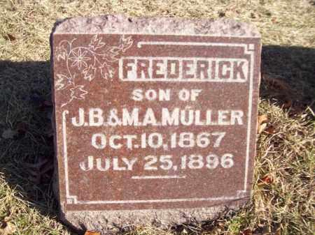 MULLER, FREDERICK - Tazewell County, Illinois   FREDERICK MULLER - Illinois Gravestone Photos