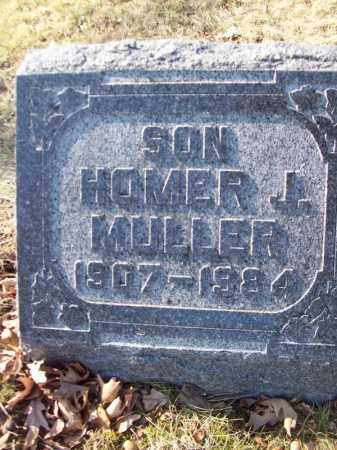 MULLER, HOMER J - Tazewell County, Illinois | HOMER J MULLER - Illinois Gravestone Photos