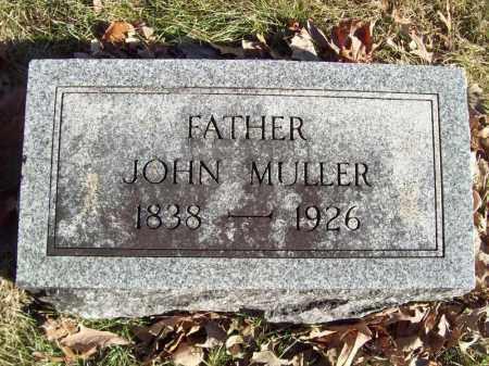 MULLER, JOHN - Tazewell County, Illinois   JOHN MULLER - Illinois Gravestone Photos