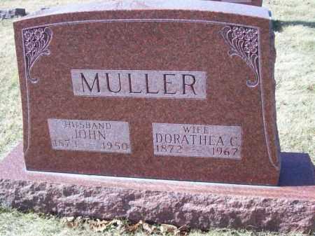 MULLER, JOHN - Tazewell County, Illinois | JOHN MULLER - Illinois Gravestone Photos