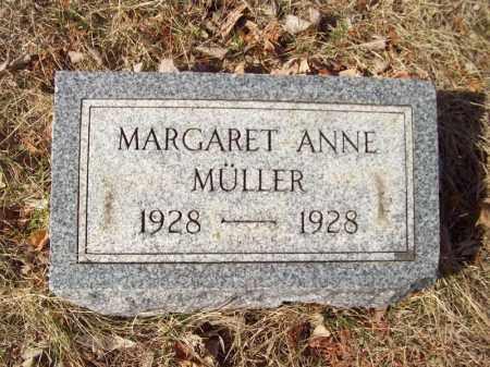 MULLER, MARGARET ANNE - Tazewell County, Illinois | MARGARET ANNE MULLER - Illinois Gravestone Photos