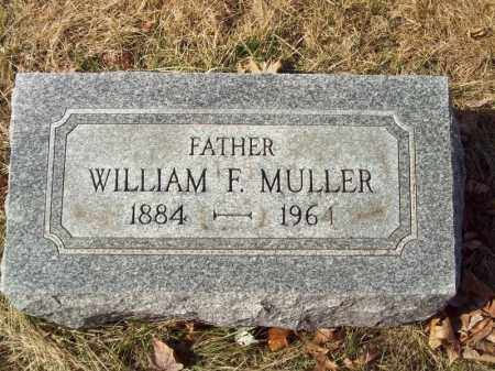 MULLER, WILLIAM F - Tazewell County, Illinois | WILLIAM F MULLER - Illinois Gravestone Photos