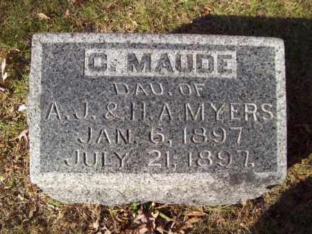 MYERS, C MAUDE - Tazewell County, Illinois | C MAUDE MYERS - Illinois Gravestone Photos