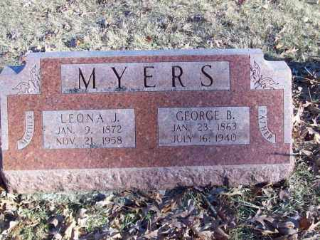 MYERS, GEORGE  B - Tazewell County, Illinois | GEORGE  B MYERS - Illinois Gravestone Photos