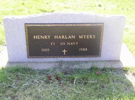 MYERS, H.  HARLAND - Tazewell County, Illinois | H.  HARLAND MYERS - Illinois Gravestone Photos