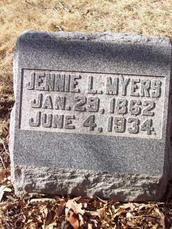 MYERS, JENNIE L - Tazewell County, Illinois | JENNIE L MYERS - Illinois Gravestone Photos
