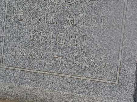 MYERS, JESSIE / BRIGHT - Tazewell County, Illinois | JESSIE / BRIGHT MYERS - Illinois Gravestone Photos