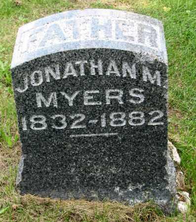 MYERS, JONATHAN M - Tazewell County, Illinois | JONATHAN M MYERS - Illinois Gravestone Photos