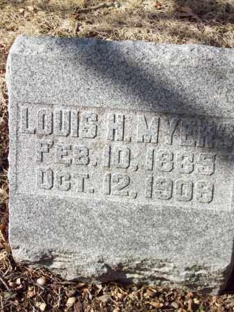 MYERS, LOUIS H - Tazewell County, Illinois | LOUIS H MYERS - Illinois Gravestone Photos
