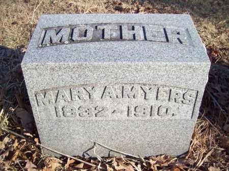 MYERS, MARY A - Tazewell County, Illinois | MARY A MYERS - Illinois Gravestone Photos