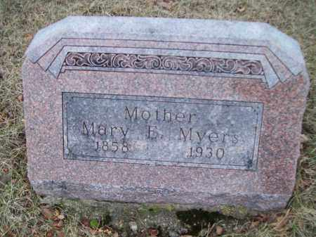 MYERS, MARY E - Tazewell County, Illinois | MARY E MYERS - Illinois Gravestone Photos