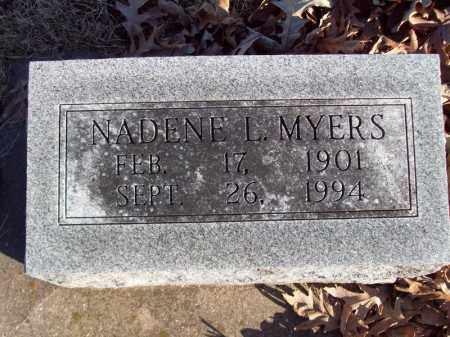 MYERS, NADENE L - Tazewell County, Illinois   NADENE L MYERS - Illinois Gravestone Photos