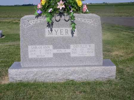 MYERS, SARAH ANN - Tazewell County, Illinois | SARAH ANN MYERS - Illinois Gravestone Photos