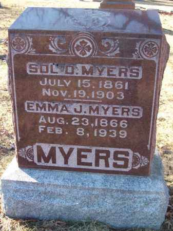 MYERS, SOL D - Tazewell County, Illinois | SOL D MYERS - Illinois Gravestone Photos