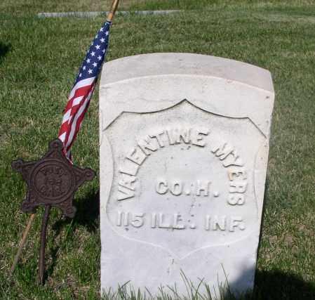 MYERS, VALENTINE - Tazewell County, Illinois | VALENTINE MYERS - Illinois Gravestone Photos