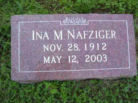 NAFZIGER, INA M - Tazewell County, Illinois | INA M NAFZIGER - Illinois Gravestone Photos