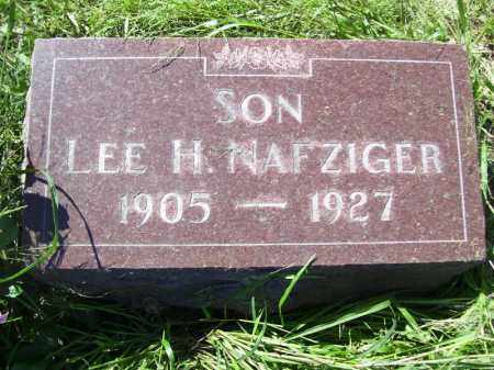 NAFZIGER, LEE H - Tazewell County, Illinois | LEE H NAFZIGER - Illinois Gravestone Photos