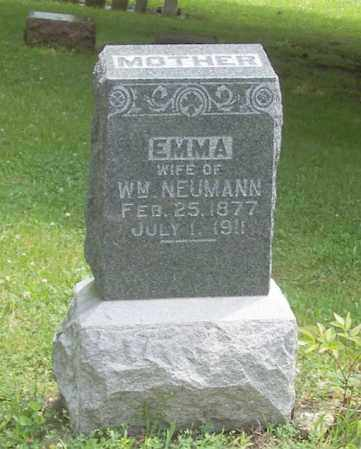 NEUMANN, EMMA - Tazewell County, Illinois | EMMA NEUMANN - Illinois Gravestone Photos
