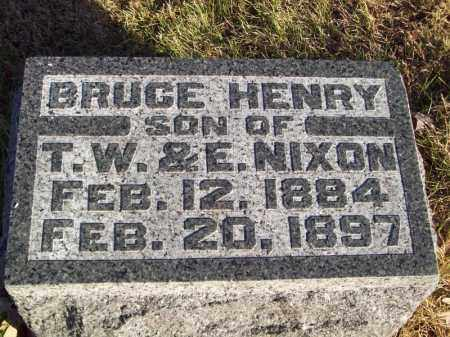 NIXON, BRUCE HENRY - Tazewell County, Illinois | BRUCE HENRY NIXON - Illinois Gravestone Photos