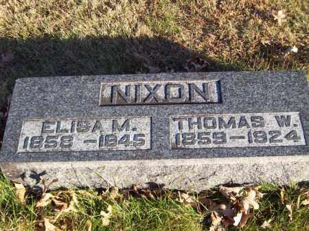 NIXON, THOMAS W - Tazewell County, Illinois | THOMAS W NIXON - Illinois Gravestone Photos