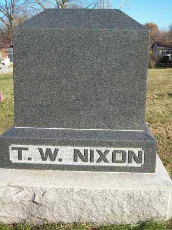 NIXON, T W FAMILY MONUMENT - Tazewell County, Illinois | T W FAMILY MONUMENT NIXON - Illinois Gravestone Photos