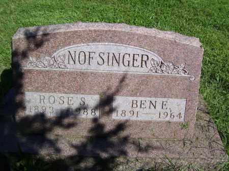 NOFSINGER, ROSE S - Tazewell County, Illinois | ROSE S NOFSINGER - Illinois Gravestone Photos