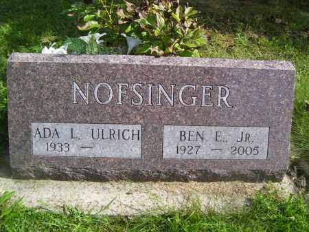 NOFSINGER, BEN E, JR. - Tazewell County, Illinois   BEN E, JR. NOFSINGER - Illinois Gravestone Photos