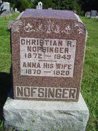 NOFSINGER, ANNA - Tazewell County, Illinois | ANNA NOFSINGER - Illinois Gravestone Photos