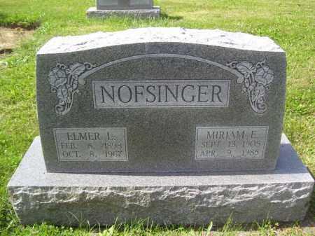 NOFSINGER, ELMER L - Tazewell County, Illinois | ELMER L NOFSINGER - Illinois Gravestone Photos