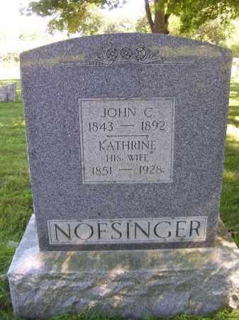 NOFSINGER, JOHN C - Tazewell County, Illinois | JOHN C NOFSINGER - Illinois Gravestone Photos