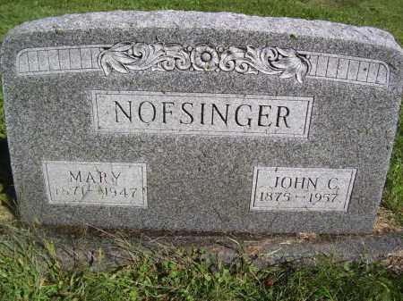 NOFSINGER, MARY - Tazewell County, Illinois | MARY NOFSINGER - Illinois Gravestone Photos