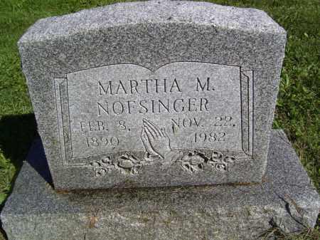 NOFSINGER, MARTHA M - Tazewell County, Illinois | MARTHA M NOFSINGER - Illinois Gravestone Photos