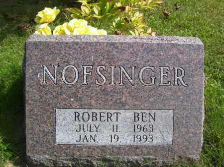 NOFSINGER, ROBERT BEN - Tazewell County, Illinois   ROBERT BEN NOFSINGER - Illinois Gravestone Photos