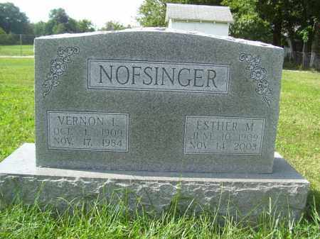 NOFSINGER, ESTHER M - Tazewell County, Illinois | ESTHER M NOFSINGER - Illinois Gravestone Photos