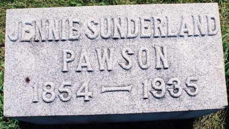 SUNDERLAND PAWSON, JENNIE - Tazewell County, Illinois | JENNIE SUNDERLAND PAWSON - Illinois Gravestone Photos