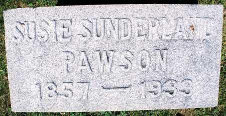 SUNDERLAND PAWSON, SUSIE THOMAS - Tazewell County, Illinois | SUSIE THOMAS SUNDERLAND PAWSON - Illinois Gravestone Photos