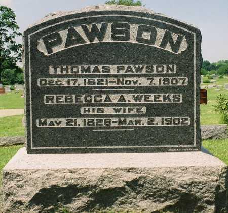 PAWSON, THOMAS - Tazewell County, Illinois | THOMAS PAWSON - Illinois Gravestone Photos